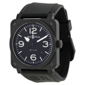 42 mm Bell and Ross BR0392-BL-CE Mens Dress Watches