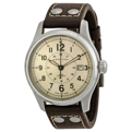 Beige (Old Paper) Hamilton Khaki Field H70595523 Casual Watches Mens