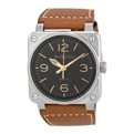 Bell and Ross Aviation BR0392-ST-G-HE/SCA Mens 42 mm Luxury Watches