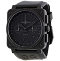 Bell and Ross Aviation BR0394 PHANTOM Mens Black PVD Steel Luxury Watches