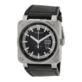 Bell and Ross Aviation BR0396-SI-ST Mens 42 mm Luxury Watches