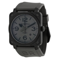 Bell and Ross Vintage BR0392-COMMANDOCE Mens Grey Dress Watches
