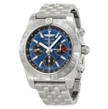 Black and Blue Breitling Chronomat AB042011-C852SS Luxury Watches Mens
