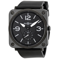 Black Bell and Ross Aviation BRS-BLC-MAT/SRB Luxury Watches Unisex