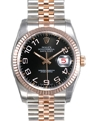 Black Concentric Rolex Datejust 116231BKCAJ Luxury Watches Mens