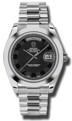 Black Concentric Rolex Day-Date II 218206BKCAP Casual Watches Mens