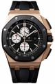 Black (Mega Tapisserie pattern) Audemars Piguet Royal Oak Offshore 26400RO.OO.A002CA.01 Casual Watches Mens