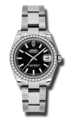 Black Rolex Datejust 178384BKSO Luxury Watches Ladies