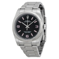 Black Rolex Oyster Perpetual No Date 116034BKAPSO Luxury Watches Mens