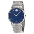 Blue Movado 606688 Dress Watches Mens