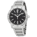 Bvlgari 101868 Mens Scratch Resistant Sapphire Dress Watches