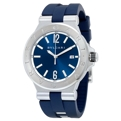 Bvlgari 102102 Mens Blue Luxury Watches