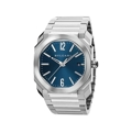Bvlgari Octo Solotempo 102105 Mens Blue Sunray Lacquered Polished Luxury Watches