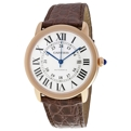 Cartier Ronde Solo de Cartier W6701009 Silvered opaline Luxury Watches