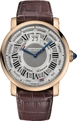 Cartier Rotonde de Cartier W1580001 Mens Silver guilloche Luxury Watches