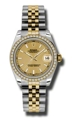 Champagne Rolex Datejust 178383CSJ Luxury Watches Ladies
