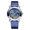 Chopard Happy Sport 278475-3049 Ladies Blue with Fish Motif Dress Watches