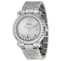 Chopard Happy Sport 278477-3009 Mother of Pearl with Seven Floating Diamonds Luxury Watches