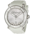 Chopard Happy Sport 288525-3002 Ladies Silver Dial with 5 Floating Diamonds Luxury Watches