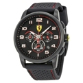 Ferrari Mens Black Ion-plated Stainless Steel Casual Watches