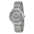 Grey Mother of Pearl set with Diamonds Michele MWW21B000040 Dress Watches Ladies