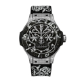Hublot 343.SX.6570.NR.0804 Ladies Polished Stainless Steel Set with 198 Diamonds Luxury Watches