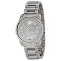 Movado Bold 3600254 Ladies Silver Crystal Pave Casual Watches