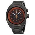 Movado Unisex Black and Orange Casual Watches
