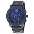 Navy Blue Movado Bold 3600270 Dress Watches Mens