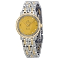 Omega DeVille 424.25.24.60.58.001 Ladies Gold Tone Luxury Watches