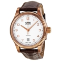 Oris Classic 01 733 7594 4891 07 6 20 12 Mens White Casual Watches