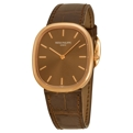 Patek Philippe Golden Ellipse 3738/100R/001 Mens Chocolate Brown sunburst Luxury Watches