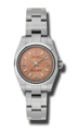 Pink Rolex Oyster Perpetual No Date 176200PASO Luxury Watches Ladies