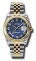 Rolex Datejust 116203BLCAJ Mens Blue Concentric Luxury Watches