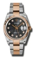 Rolex Datejust 116231BKJDO 18kt Pink Gold and Stainless Steel Luxury Watches