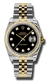 Rolex Datejust 116243BKDJ Ladies Stainless Steel and 18kt Yellow Gold Casual Watches