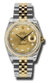 Rolex Datejust 116243CDJ Ladies Stainless Steel and 18kt Yellow Gold Luxury Watches