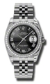 Rolex Datejust 116244BKSBRJ Ladies Black Luxury Watches