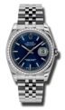 Rolex Datejust 116244BLSJ Mens 36 mm Luxury Watches