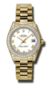 Rolex Datejust 178158WRP 18kt Yellow Gold Case. Lugs set with 24 diamonds Luxury Watches
