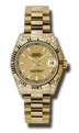 Rolex Datejust 178238CSP Ladies 18kt Yellow Gold Casual Watches