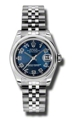 Rolex Datejust 178240BLCAJ Stainless Steel Luxury Watches