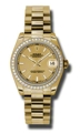 Rolex Datejust 178288CSP 18kt Yellow Gold Casual Watches