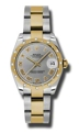 Rolex Datejust 178343GRO Stainless Steel and 18kt Gold Luxury Watches