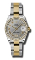 Rolex Datejust 178383GRDO Stainless Steel and 18kt Gold Luxury Watches