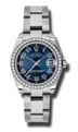 Rolex Datejust 178384BLCAO Ladies Scratch resistant Sapphire Luxury Watches