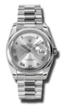 Rolex Day-Date 118206GYRP Mens Grey Casual Watches