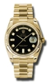 Rolex Day-Date 118238BKDP Mens 36mm Luxury Watches