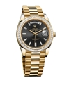 Rolex Day-Date 228398BKDP Mens 18K Yellow Gold Luxury Watches