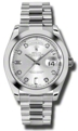 Rolex Day-Date II 218206SDP Mens Silver Luxury Watches